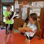 Kathi beim Kick